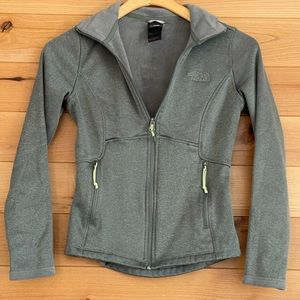 The North Face fleece zippered jacket in Agave